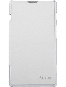 Flashmob Flip Cover for Sony Experia M2 - White