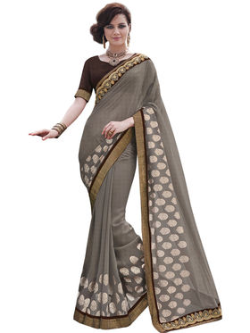 Bahubali Georgette Embroidery Saree -GA20007