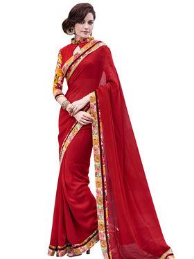Bahubali Georgette jacquard Embroidery Saree -GA20011