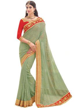 Indian Women Embroidered Georgette Saree -Ga20213