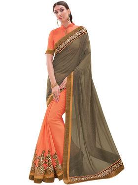 Indian Women Embroidered Georgette & Georgette Saree -Ga20219