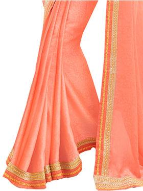 Indian Women Embroidered Chinon & Jacquard Saree -Ga20231