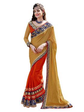 Branded Silk Jacquard Printed Saree -HT70113