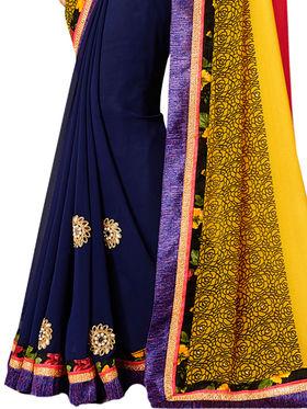Indian Women Designer Printed Georgette Saree -Ic11229