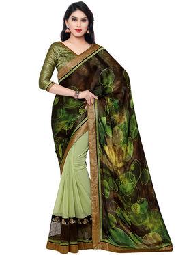 Indian Women CrepeJacquard Saree -IC40411