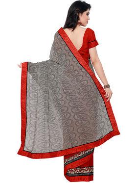 Indian Women Net Jacquard Saree -IC40430