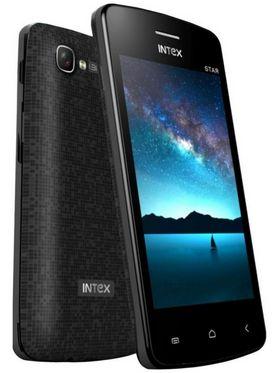 Intex Star PDA Dual SIM Touch Mobile Phone with Whatsapp - Black