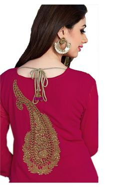 Ishin Embroidered Georgette Kurti - Pink_ASHR-Kaasturi