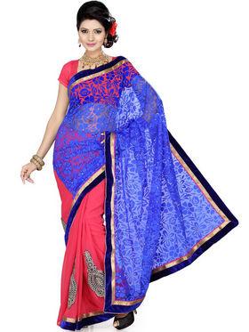 Ishin Brasso Embroidered Saree - Multicolour_ISHIN-1732