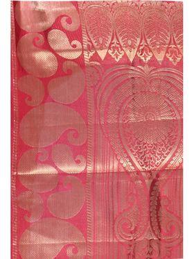 Ishin Poly Silk Printed Saree - White & Red
