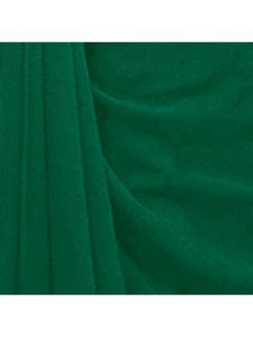 Khushali Fashion Georgette Plain Saree(Rama Green)_JAZZ566