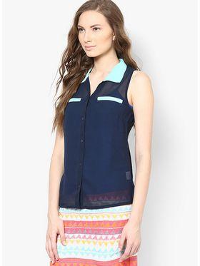 Kaxiaa Georgette Plain Womens Shirt -K-944A