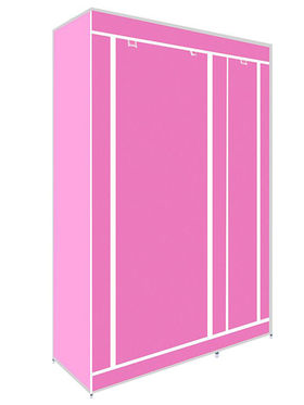 Kawachi Elegant Double-Sided Foldable Canvas Wardrobe_K1-Pink