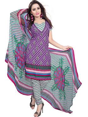 Combo of 7 Khushali Fashion Crepe Printed Dress Material -Kfcmbo102