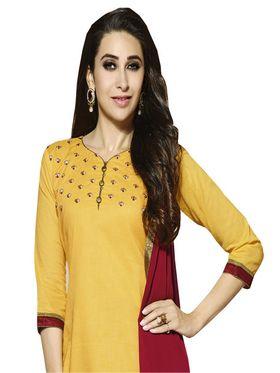 Khushali Fashion Cotton Embroidered Unstitched Dress Material -KRSH4363