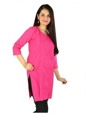 Arisha Cotton Plain Kurti KRT6031_Pnk