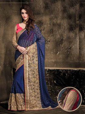 Viva N Diva Georgette Floral Embroidery Saree -Kalki-03-3008
