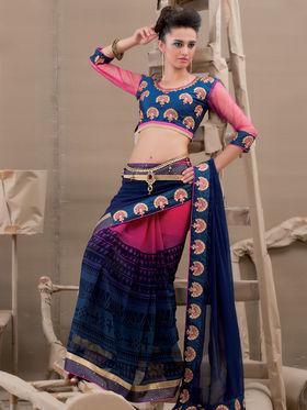 Viva N Diva Georgette Embroidered Saree Kanvi-2254