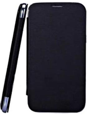 Branded Flip Cover for Karbonn Titanium S1   Black available at Naaptol for Rs.310