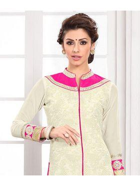 Viva N Diva Semi Stitched Georgette Embroidered Suit Kesa-15
