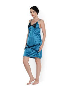 Set of 2 Klamotten Satin Solid Nightwear - X03-66