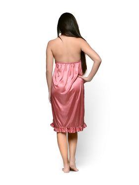 Klamotten Satin Solid Nightwear - Pink - YY102
