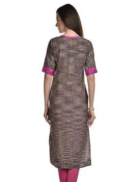 Lavennder Khadi Striped Kurti -LK-623345
