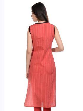Lavennder Khadi Striped Kurti -LK-62337