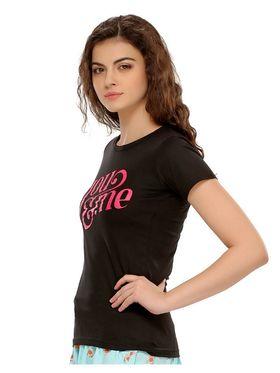 Clovia Cotton Printed T-Shirt -LT0020P13