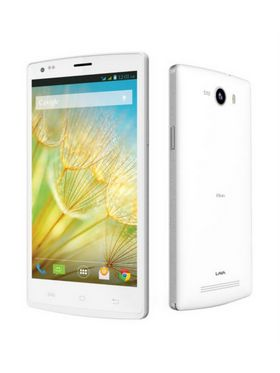 LAVA IRIS Alfa smart phone 5 inch IPS, Android Kitkat, 1GB RAM, 8GB ROM - White