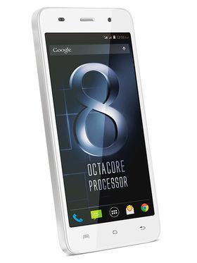 Lava Iris X8-White 5 Inch HD IPS Display, Update to Lollipop, 1.4 Ghz Octa-Core Processor, 1 GB RAM, 8GB ROM