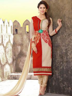 Viva N Diva Chanderi Silk Embroidered Unstitched Dress Material Mariyaam-1006