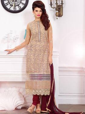 Viva N Diva Pure Georgette Embroidered Unstitched Suit Mehreem-7772