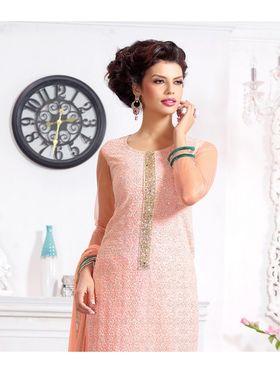 Viva N Diva Pure Georgette Embroidered Unstitched Suit Mehreem-7775