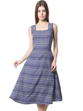 Meira Printed Crepe Women's Dress - Multicolour _ MEWT-1064-K-Multi