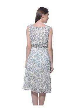 Meira Georgette Printed Dress - Multicolor - MEWT-1022-U-Multi