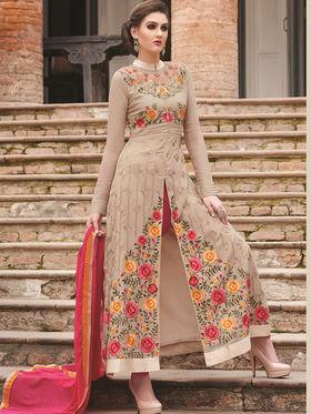 Viva N Diva Semi Stitched Georgette Floral Embroidered Semi Stitched Suits Nimaya-701