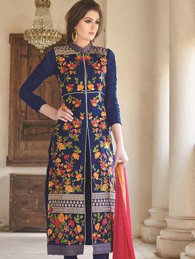 Viva N Diva Semi Stitched Georgette Floral Embroidered Suit Nimaya-707