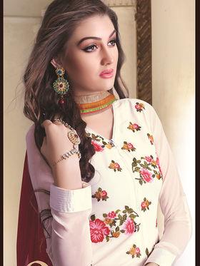 Viva N Diva Semi Stitched Georgette Floral Embroidered Suit Nimaya-709