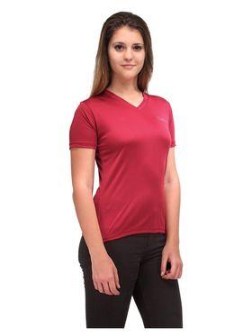 Oleva Combo Of  2 Black Denim And Maroon T-Shirt  ONC-01
