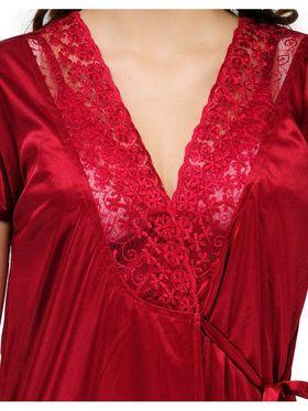 Set of 2 Satin Plain Nightwear-ONW_8_9002_MAROON