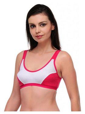 Oleva Cotton Plain Bra - Dark Pink