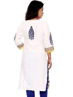 Set of 2 Priya Fashions Pure Cotton Jaipuri Printed Kurtis - PF101K2