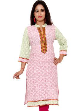 Set of 2 Priya Fashions Pure Cotton Jaipuri Printed Kurtis - PF108K2