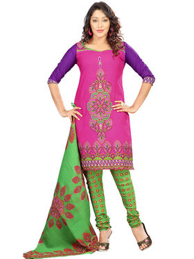 Combo of 7 Florence Poly Cotton Printed Dress Material -C7Pc1
