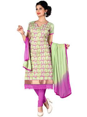 Khushali Fashion Chanderi Embroidered Unstitched Dress Material -SDSN8008
