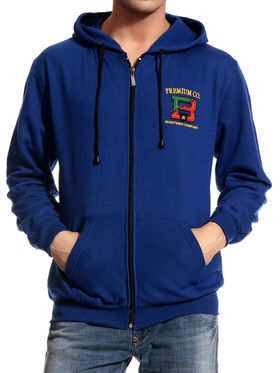 Brohood Cotton Blend Full Sleeves Casual Sweatshirt For Men - Blue_SKH33008