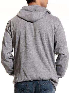 Good Karma Cotton Blend Full Sleeves Casual Sweatshirt For Men - Grey_SKH33013
