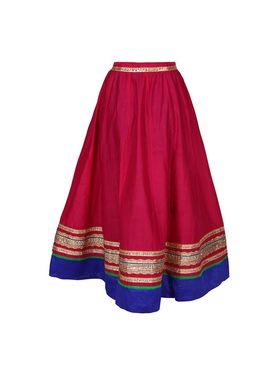 Amore Plain Cotton Embellished Skirt -Skv051P