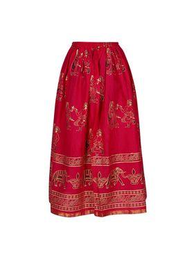Amore Printed Cotton Skirt -Skv162P